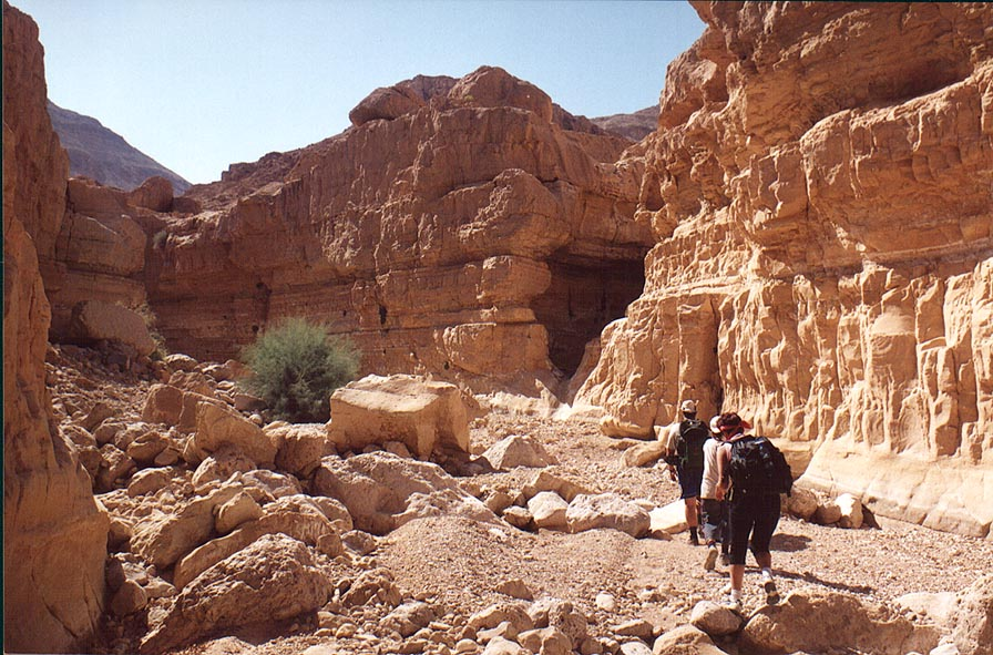 A wadi in Tseelim Canyon, 3.5 miles north-west from Masada. The Middle East