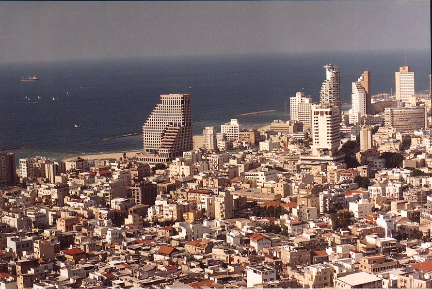 View of Kerem Hatemanim quarter, Opera Tower...tower. Tel Aviv, the Middle East