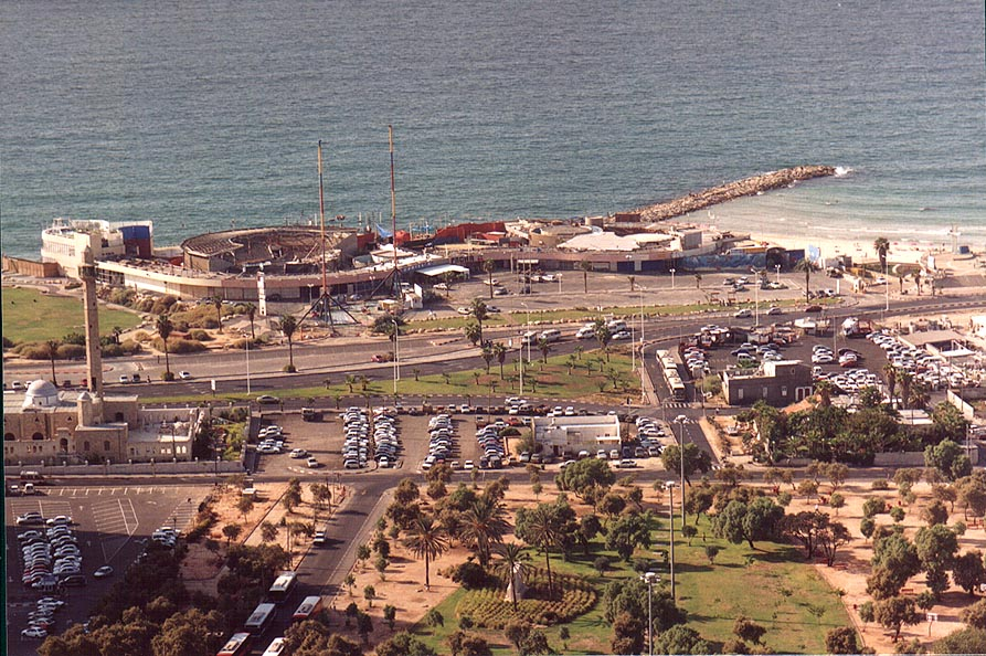 Area around Dolphinarium from Migdal Shalom tower. Tel Aviv, the Middle East