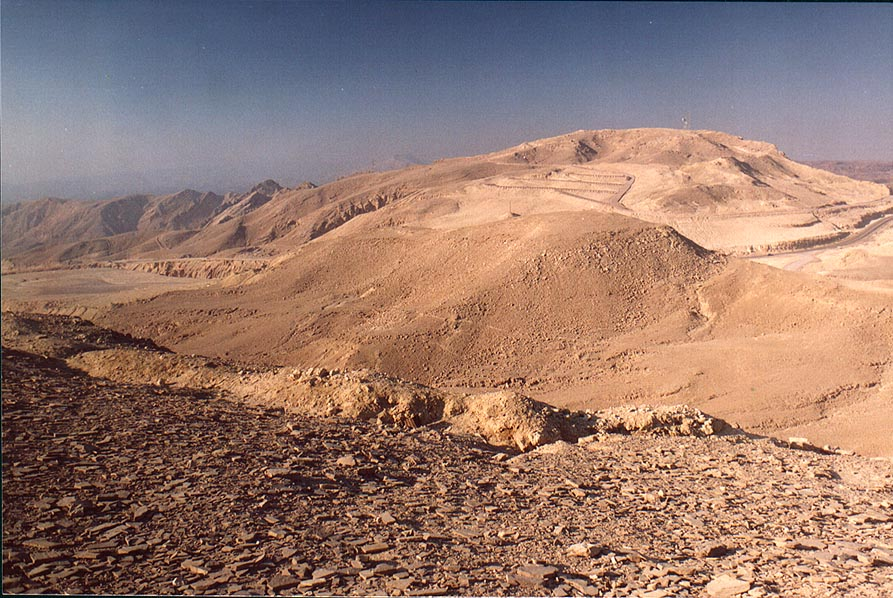 View to north-west from Mount Yehoram, 3.5 miles north-west from Eilat. The Middle East