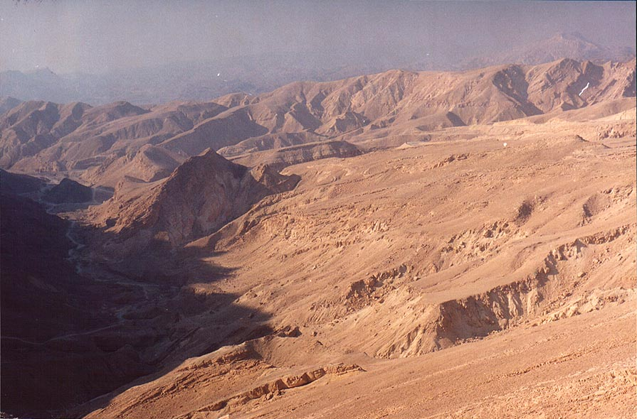 View to the south from Mount Yehoram, 3.5 miles north-west from Eilat. The Middle East