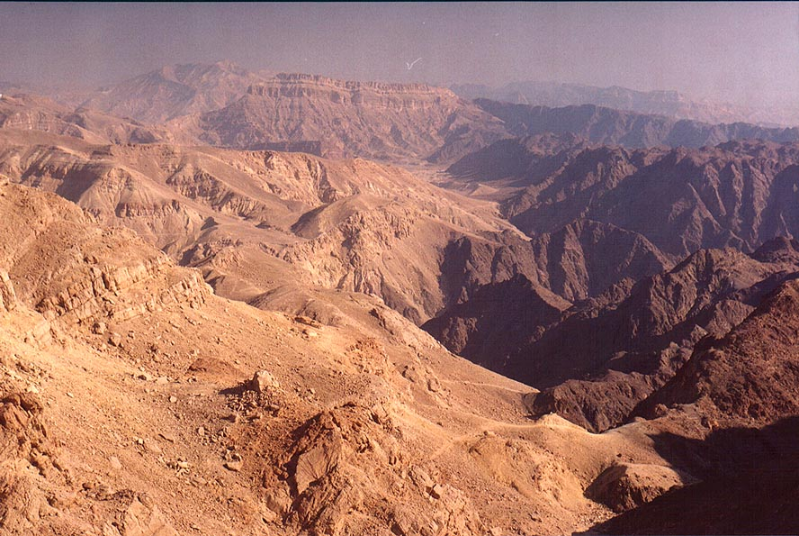 View to the north from the ridge north from Mount...north-west from Eilat. The Middle East