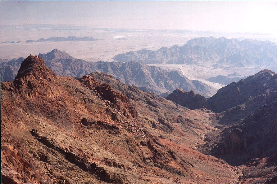 Mapalim creek to the north from Mount Shelomo, 2...north-west from Eilat. The Middle East