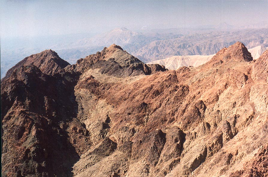 Slopes of Mount Shelomo, 2.5 miles north-west from Eilat. The Middle East