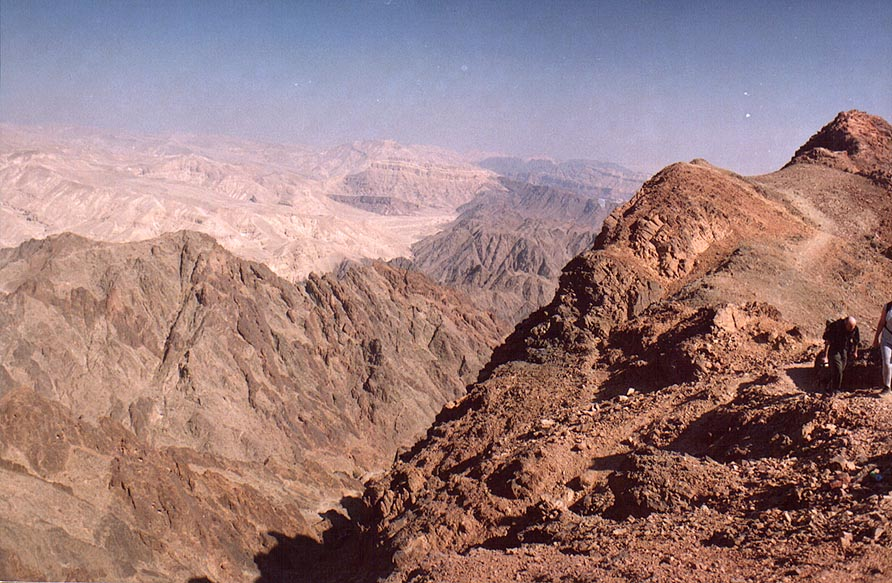 View to north-east from Mount Shelomo, 2.5 miles north-west from Eilat. The Middle East