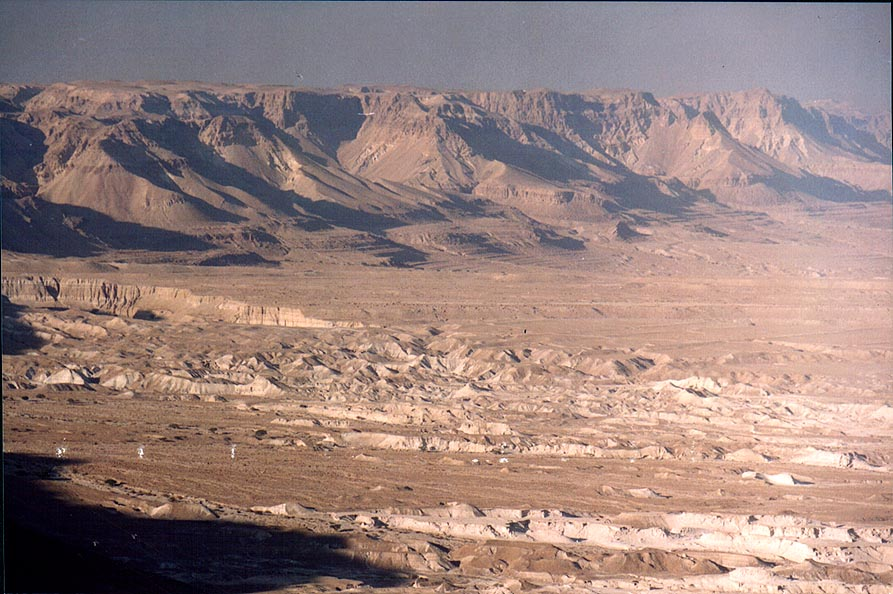 Wadi in the area of Nahal Tseelim, view to the...near the Dead Sea. The Middle East