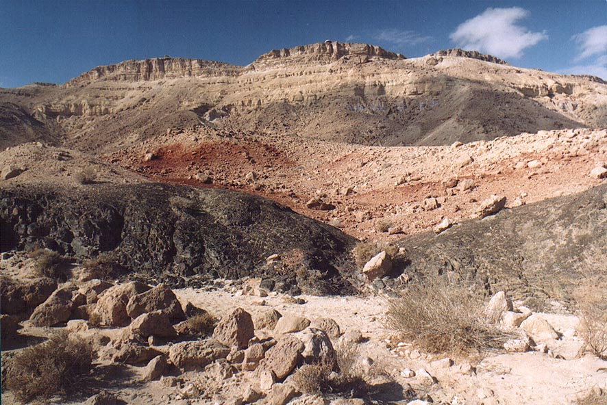 View from the bottom of the crater to the north...of Mitzpe Ramon. The Middle East
