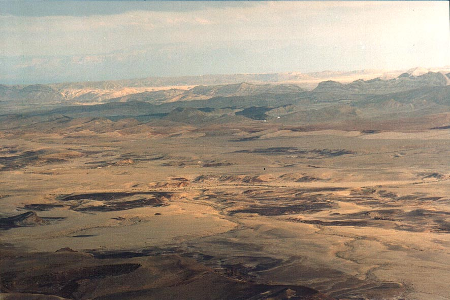 Ramon Crater, view from Mitzpe Ramon lookout. The Middle East