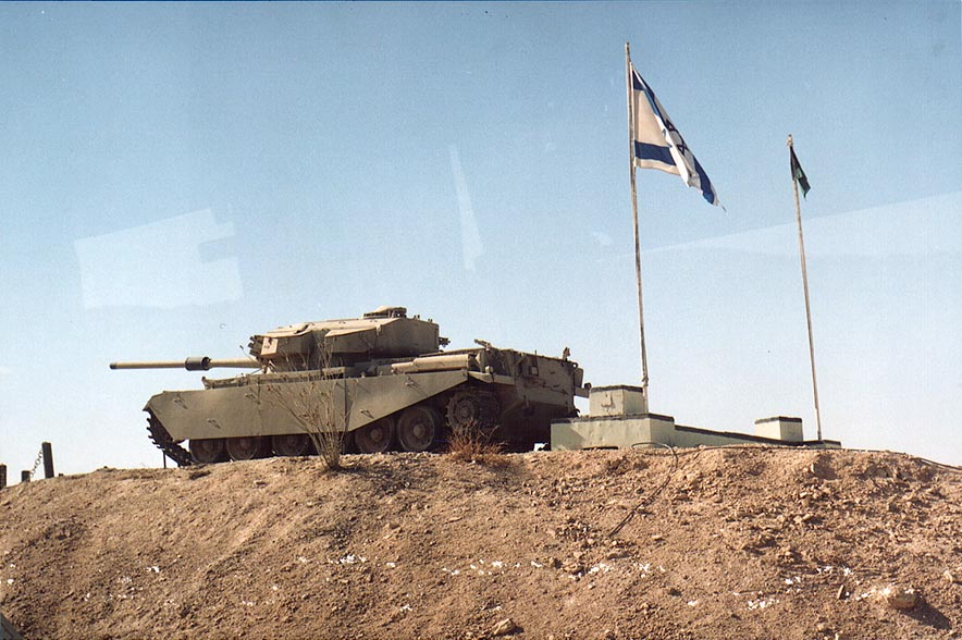 An Israeli tank in Magan Sayyarim military base...on Rd. 12 to Eilat. The Middle East