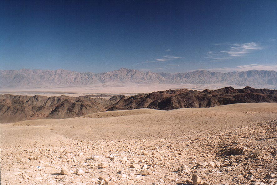 A plateau near Roded ascent, 4 miles north-west from Eilat. The Middle East