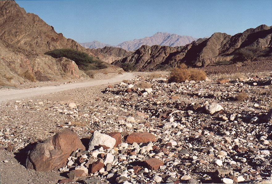 Widening of Netafim Creek, 2 miles north-west from Eilat. The Middle East