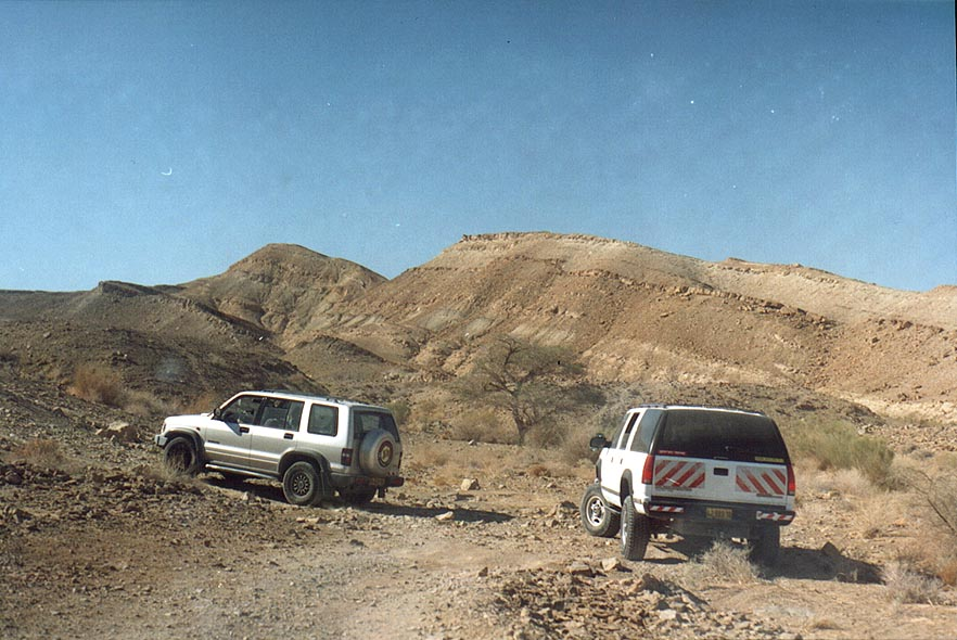 A jeep road in Ramon Crater south-east from Mitzpe Ramon. The Middle East