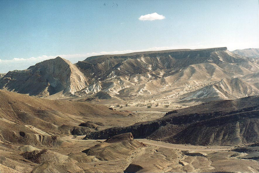 Ramon Crater, in the area of Ammonites Wall. The Middle East