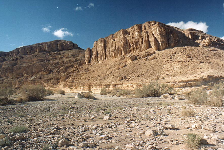 Ramon Crater east from Mitzpe Ramon, Horseshoe Trail along Nekarot Creek. The Middle East