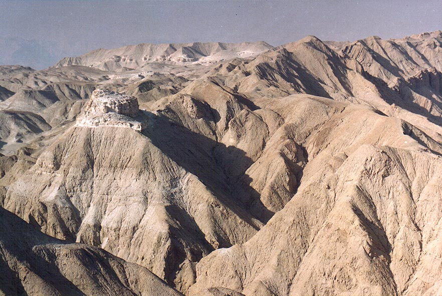 View from a lookout of Mount Sdom to the north. The Middle East