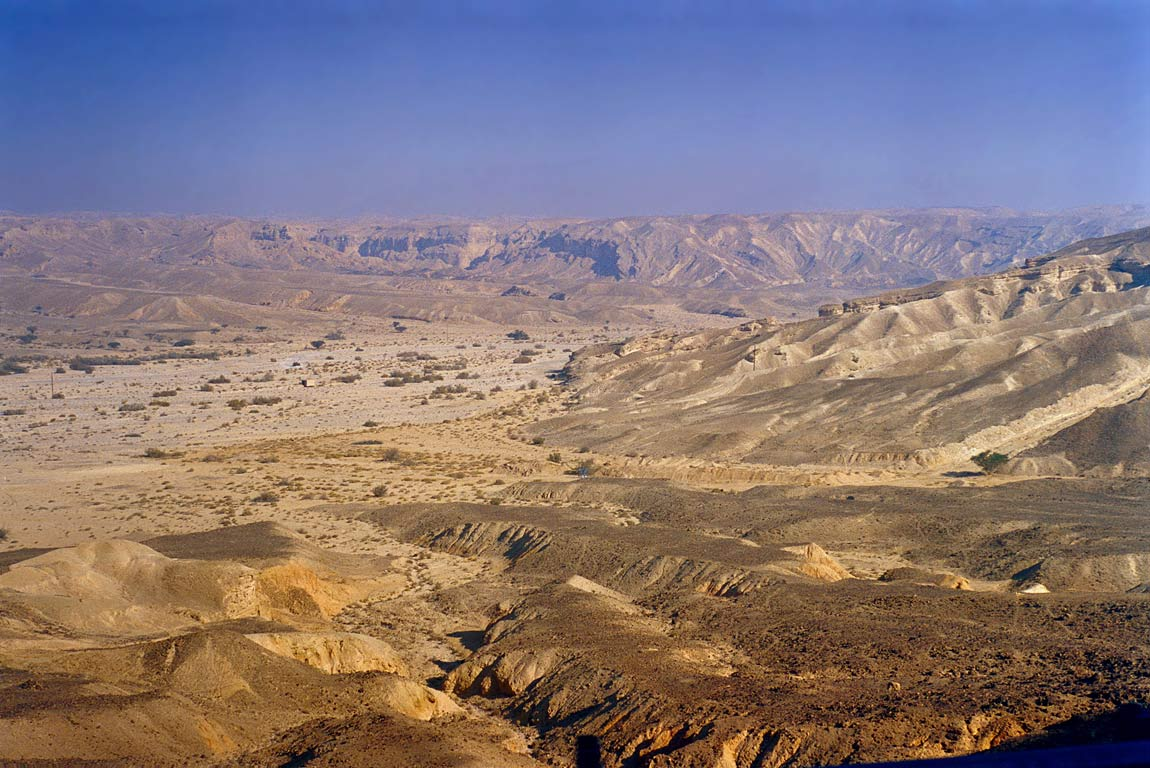 Valley of Paran River south from Ramon Crater, view from Rd. 40 to Eilat. The Middle East