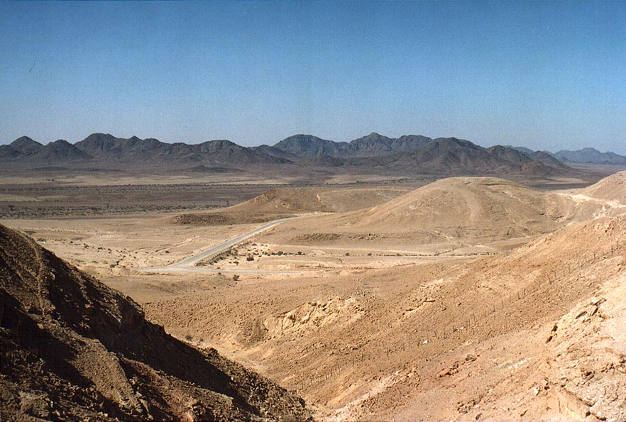 View of mountains in Sinai north-west from a...north-west from Eilat. The Middle East