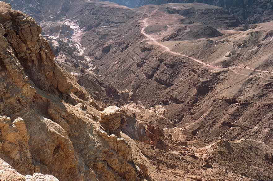 Western slopes of Mount Yoash, 4 miles north-west from Eilat. The Middle East
