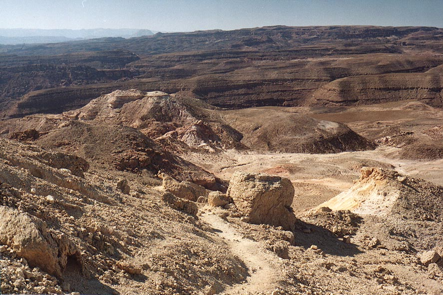 A trail along a western slope of Mount Yoash, 4...north-west from Eilat. The Middle East