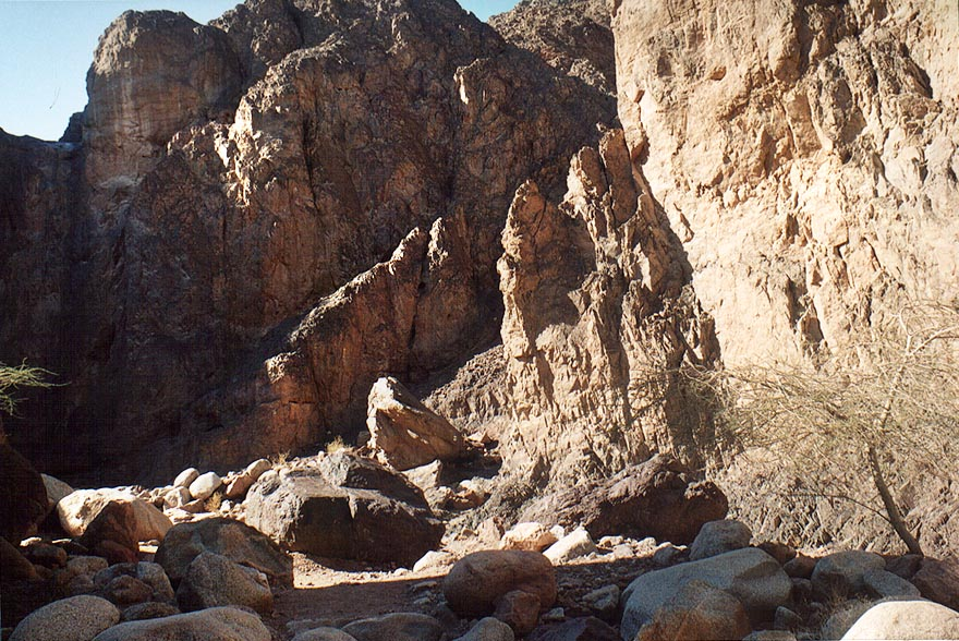 Nahal Gishron creek near a site of petroglyphs...miles west from Eilat. The Middle East