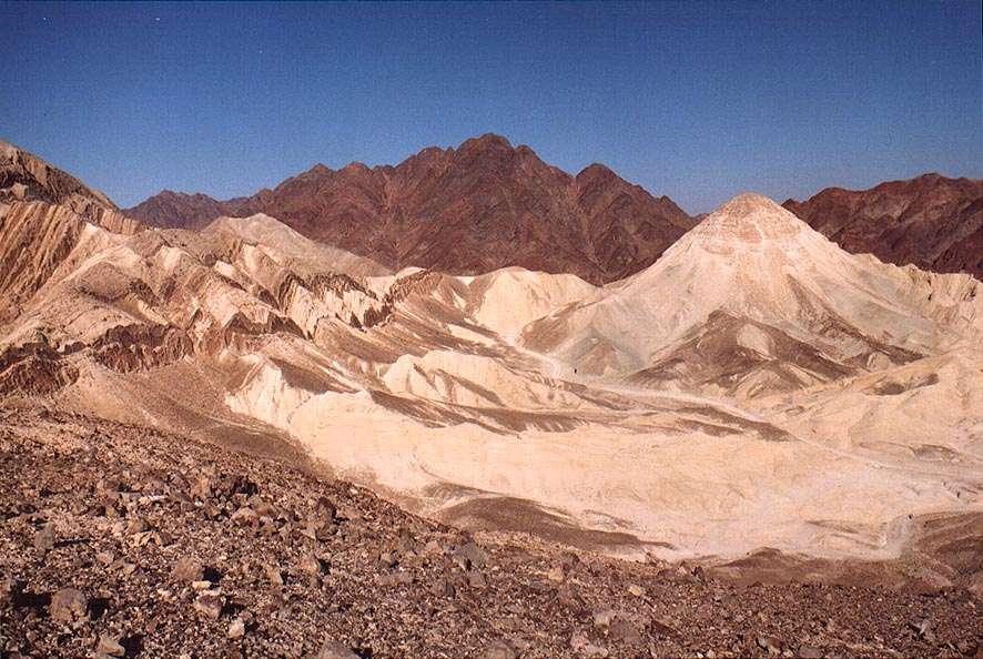 View from a ridge along Gishron cliffs (trail...miles west from Eilat. The Middle East