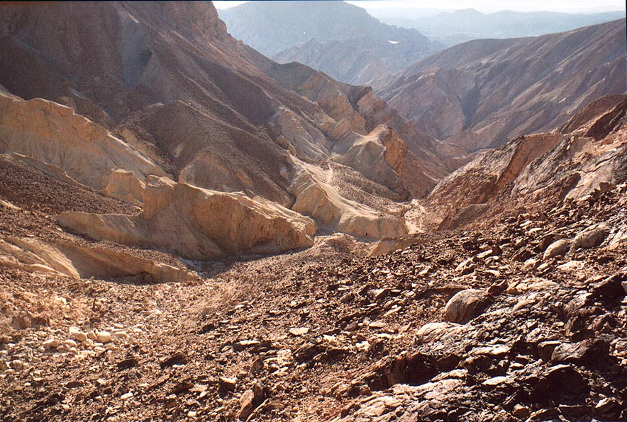 Maale Bulbusim Ascent from Egyptian border, 3 miles south-west from Eilat. The Middle East