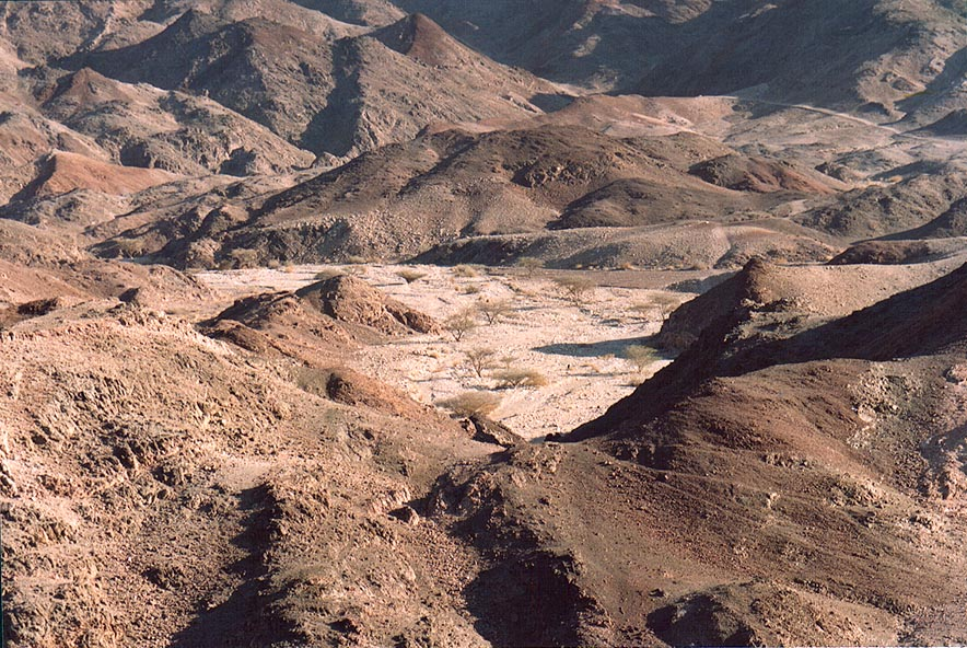 Nahal Tzefahot River, 3 miles south-west from Eilat. The Middle East