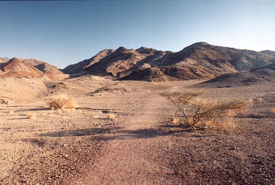 Approaching Mount Tzefahot from north, 3 miles south-west from Eilat. The Middle East