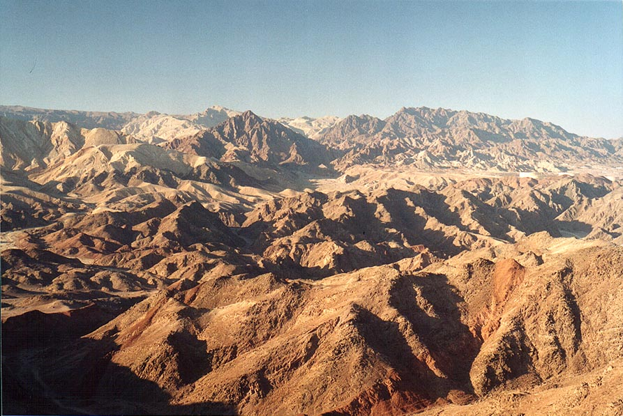 View to the north from Mount Tzefahot, 3 miles south-west from Eilat. The Middle East