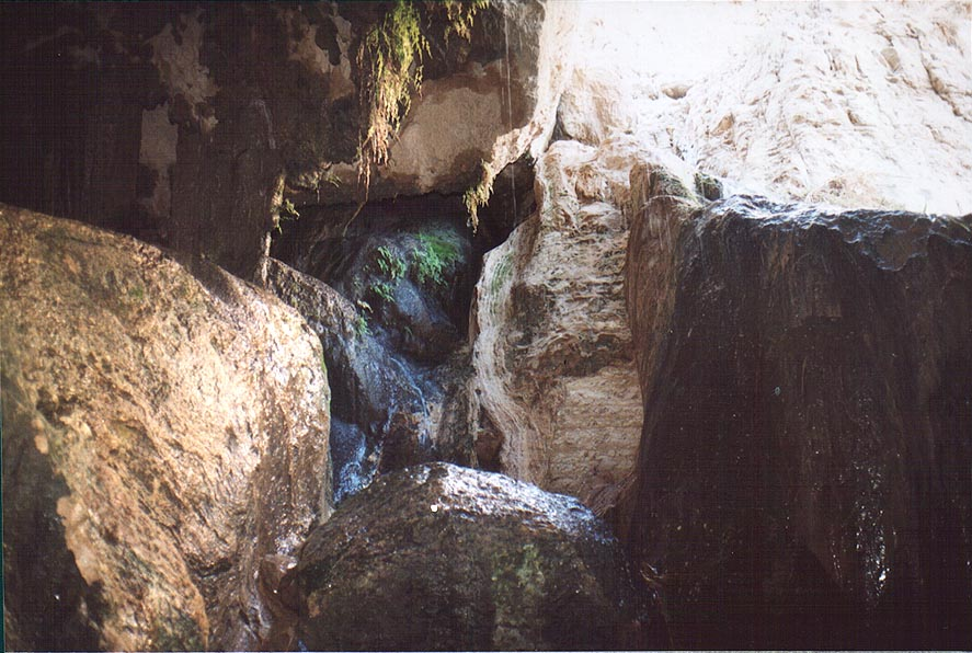 Dudaim Cave in Ein Gedi. The Middle East