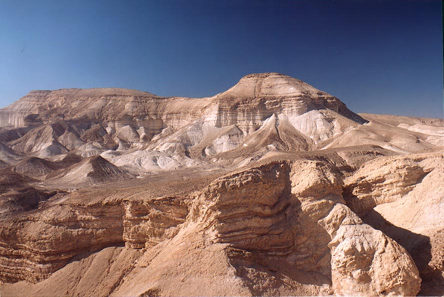 A hill in Judean Desert 1.5 miles south from Masada. The Middle East