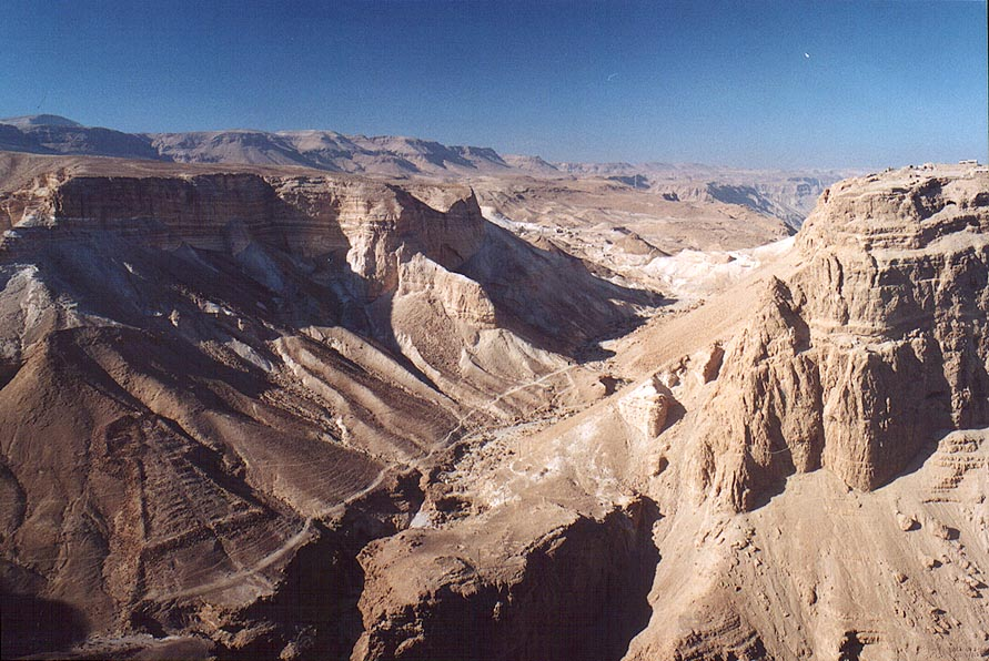 View of Nahal Mtzada canyon and south-western...from Mount Eliazar. The Middle East