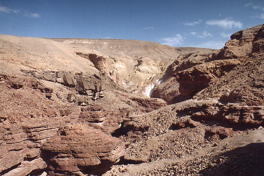Red Canyon from a trail above Nahal Shani, 9 miles north from Eilat. The Middle East