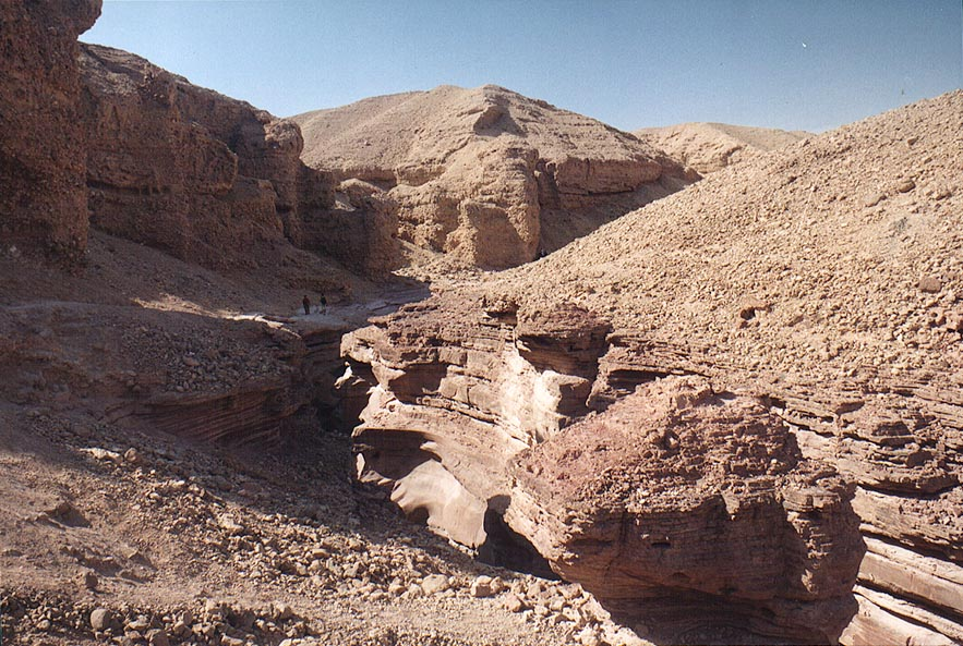 Red Canyon (jammed by a group of schoolchildren...north from Eilat. The Middle East