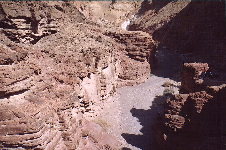 Eastern end of Red Canyon from a trail above...north from Eilat. The Middle East