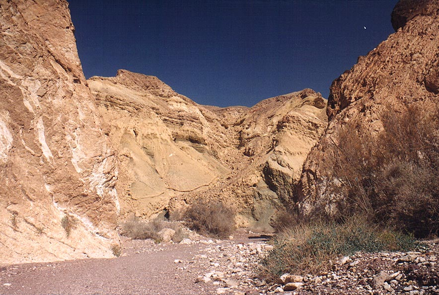 Landscape of Nahal Shani below Red canyon, 9 miles north from Eilat. The Middle East
