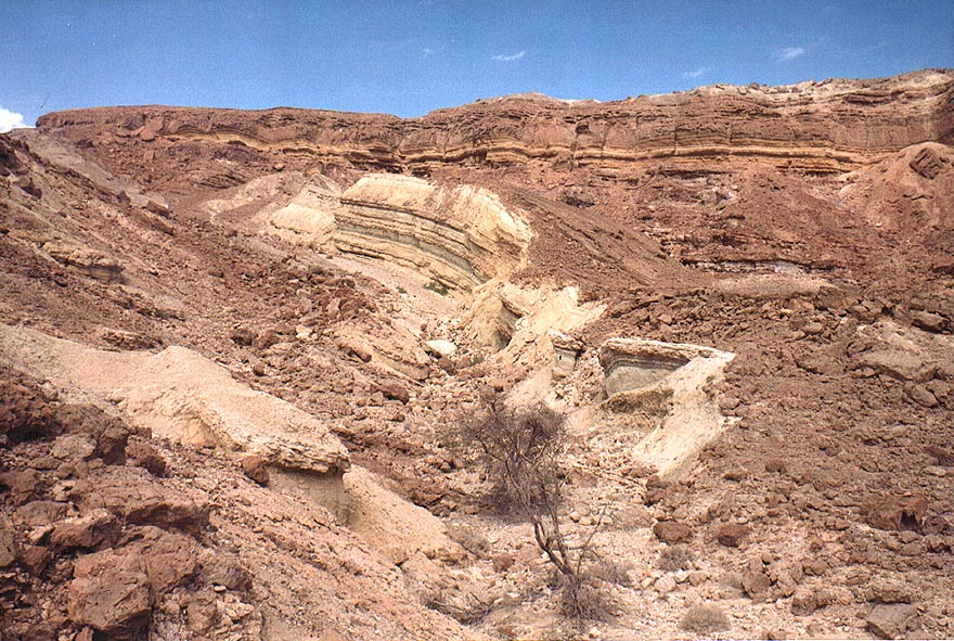 A side wadi of Nahal Shani east from Red Canyon, 8 miles north from Eilat. The Middle East