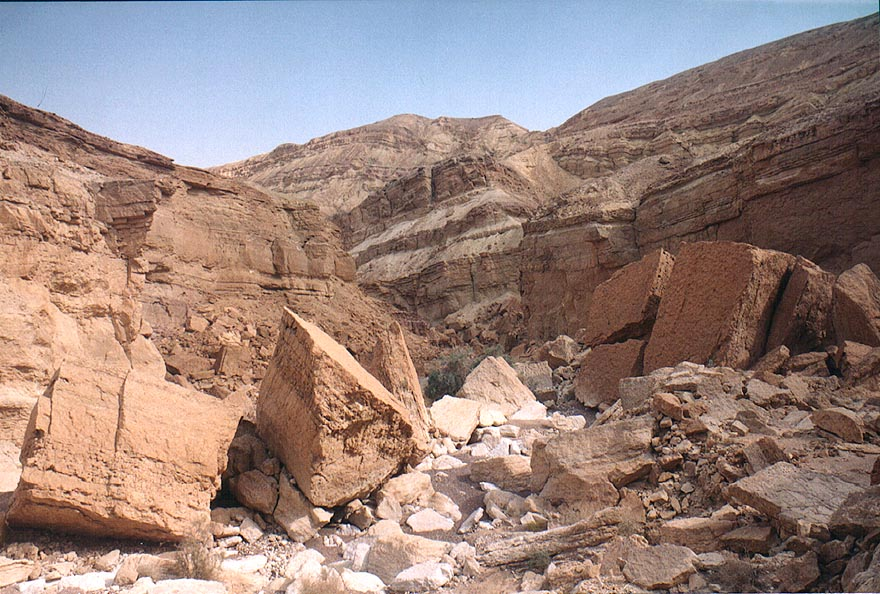 Nahal Shani east from Red Canyon, 8 miles north from Eilat. The Middle East