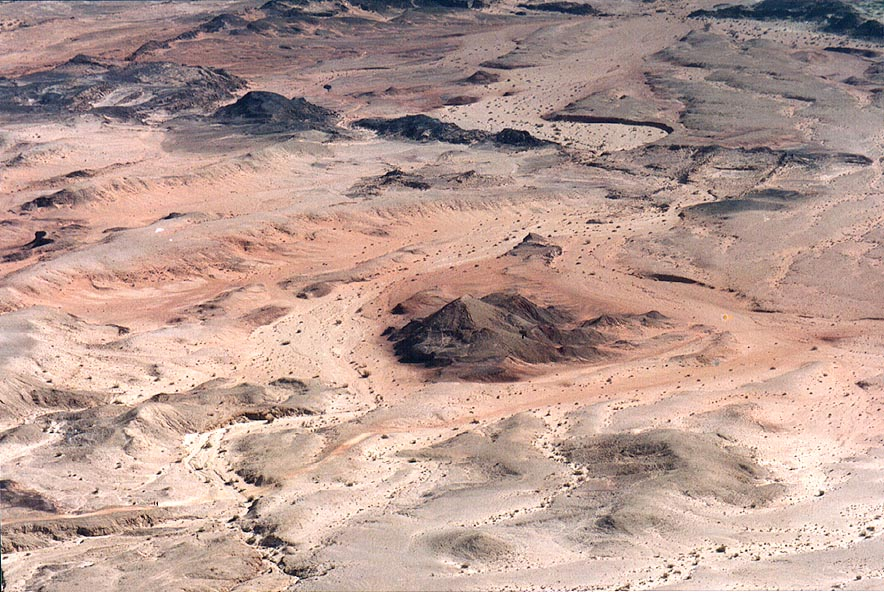 Hills on the bottom of Ramon Crater south from Mount Ardon. The Middle East