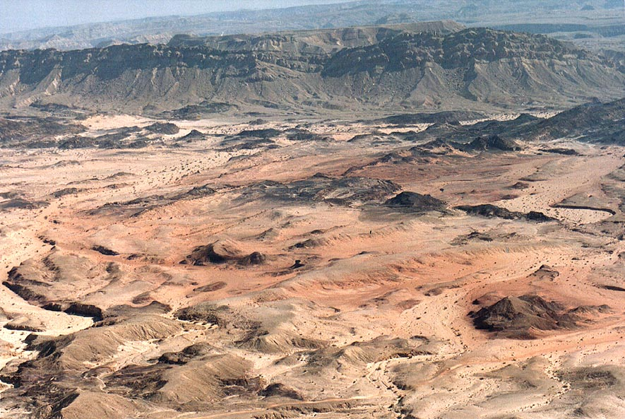 Ramon Crater south from Mount Ardon. The Middle East