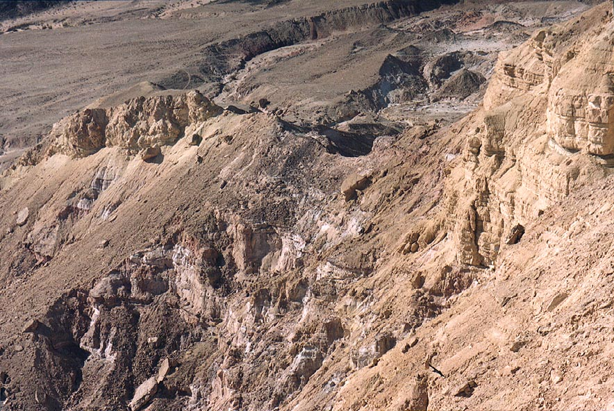 South-western slopes of Mount Ardon, in Ramon Crater. The Middle East
