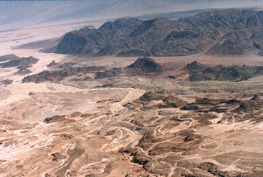View of northern Timna Park east from Mount...north from Eilat. The Middle East