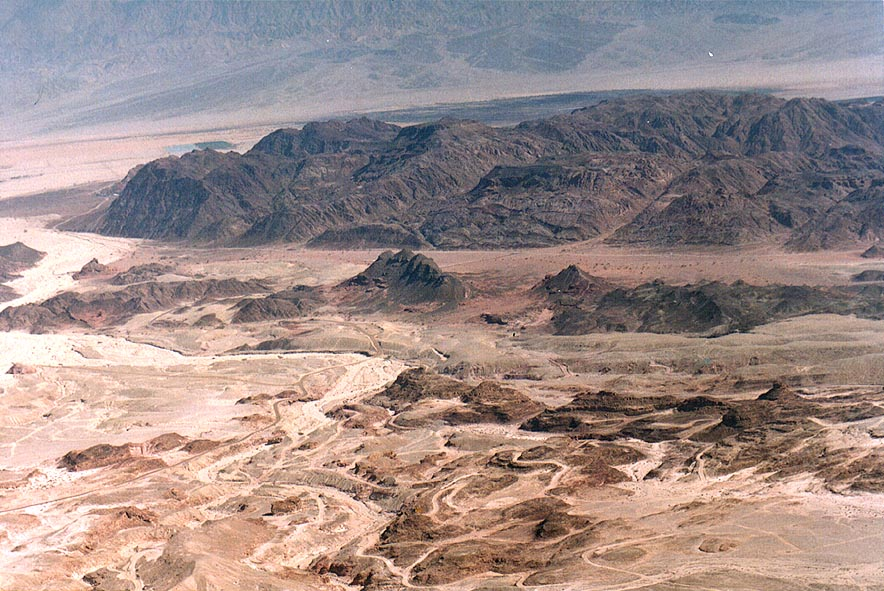 View of Timna Park east from Mount Berekh, 16 miles north from Eilat. The Middle East