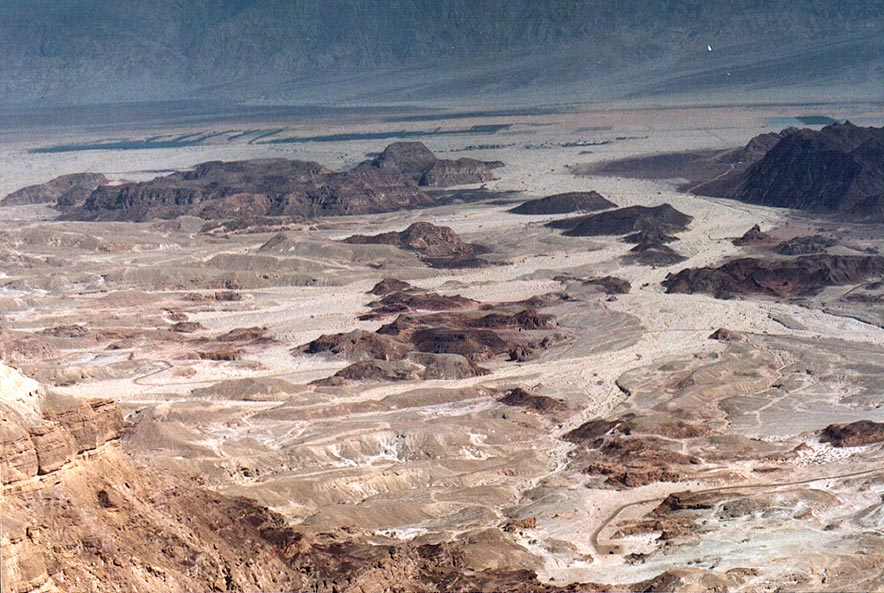 View of Arava Valley and Timna Park north-east...north from Eilat. The Middle East