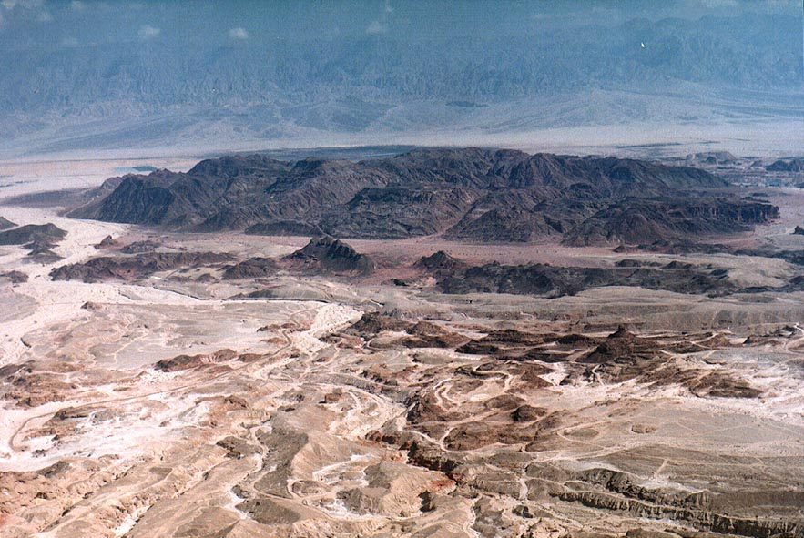 View of Timna Park south-east from Timna Cliffs...north from Eilat. The Middle East