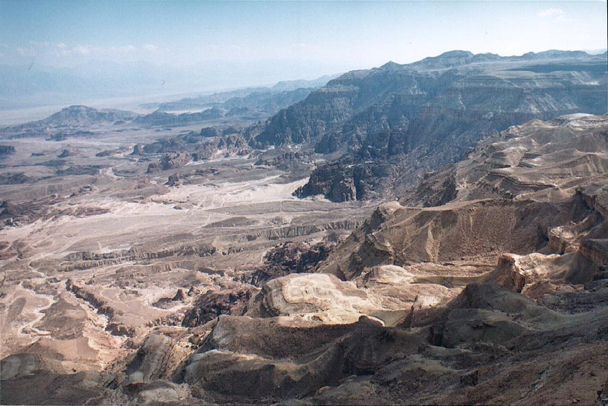 View to the direction of Mount Berekh south-west...north from Eilat. The Middle East