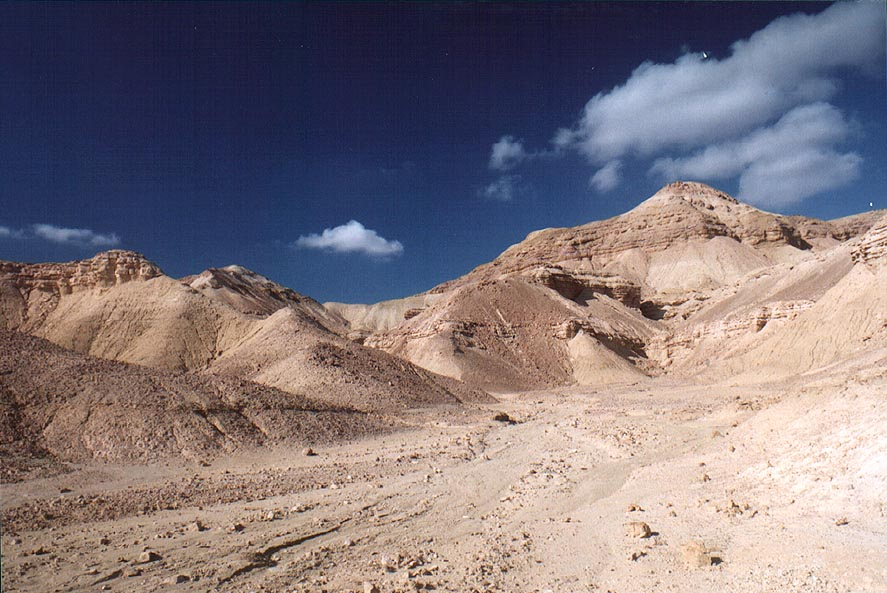 A trail near a rim of Tsukei Timna (Timna Cliffs...north from Eilat. The Middle East