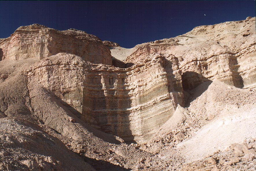 An upper terrace of Tsukei Timna (Timna Cliffs...north from Eilat. The Middle East
