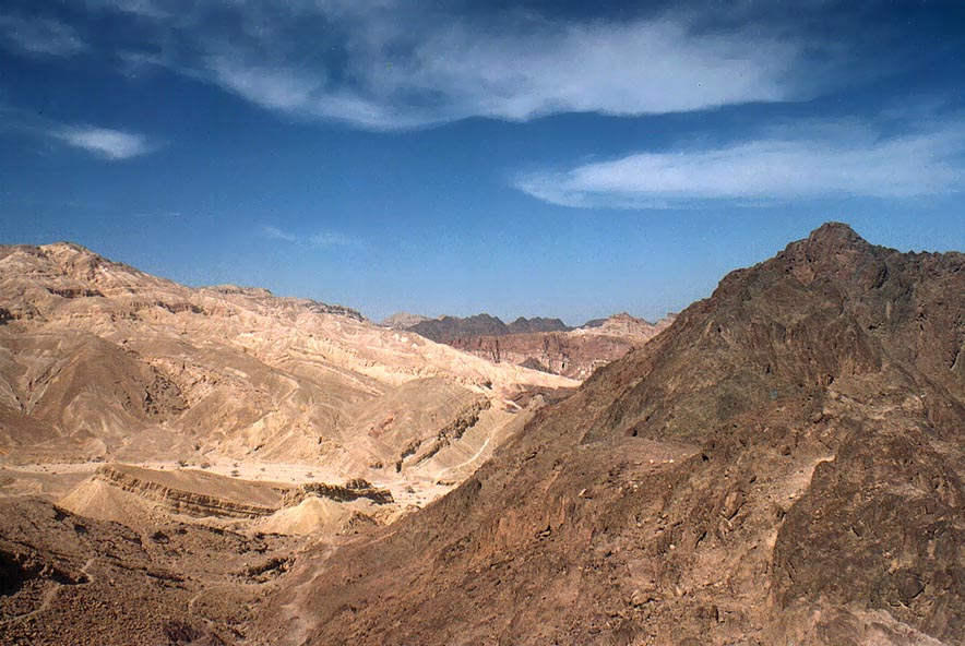 View to the north from ascent to Mount Shehoret...north from Eilat. The Middle East
