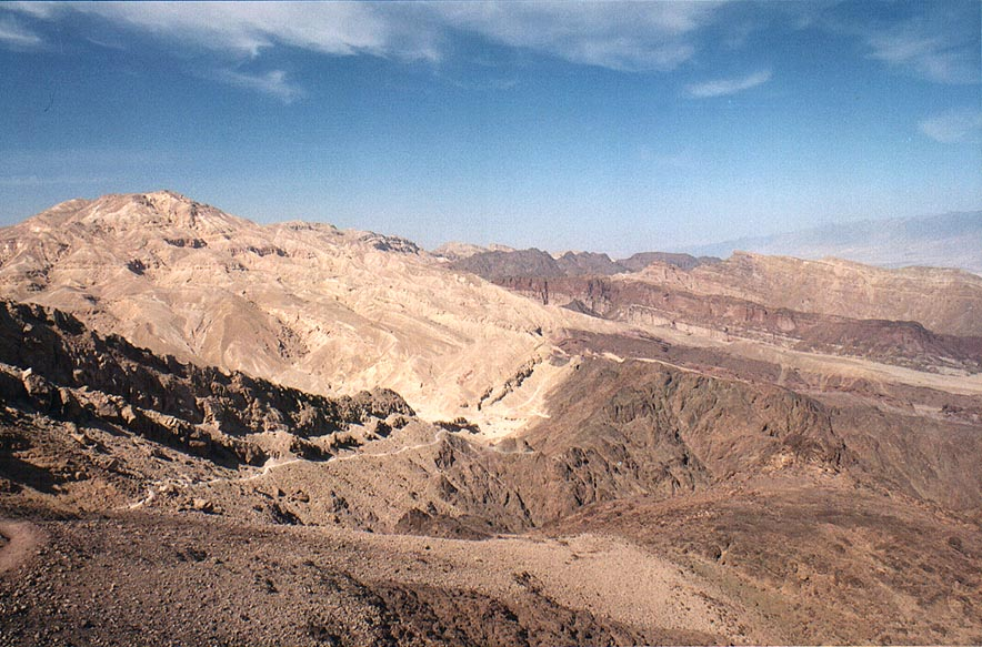 View to the north from Mount Shehoret, 3 miles north from Eilat. The Middle East
